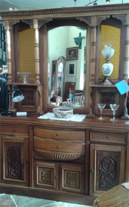 Decorative hutch at Vintage La Conner